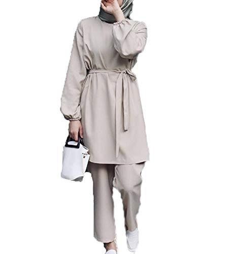 keepmore Arabische muslimische Frauen/Mädchen Mode Langarm Tops + Hosen 2 Stück Anzug