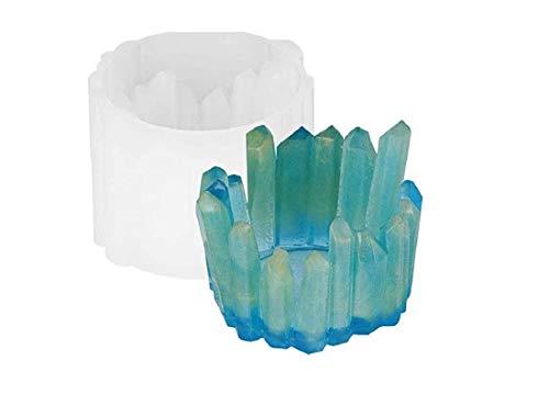 DAIRF DIY-Eisberg-Kerze-Halter Silikon Epoxidharz Form Kristall Form Epoxid-Gießform Harz Handwerk Schmuck Aufbewahrungsbox Trinket Container Ring Halter nach Hause Büro Dekoration liefert