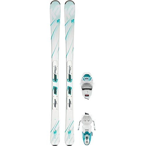 K2 Damen LUV 75 White ER3 10 COMPACT QUIKCLIK All-Mountain Ski weiß 149
