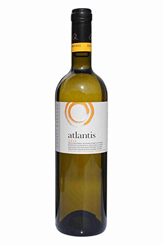 Atlantis Weißwein Santorini 750ml Flasche Argyros griechischer Weiß Wein trocken sommerfrisch San Torini