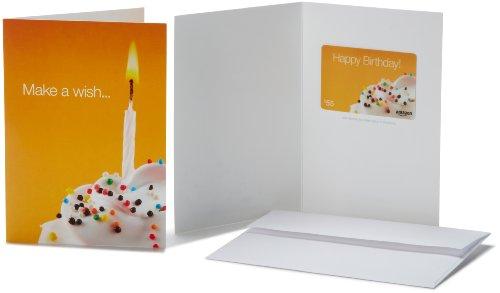 Amazon.com $55 Gift Card in a Greeting Card (Birthday Wish Card Design)
