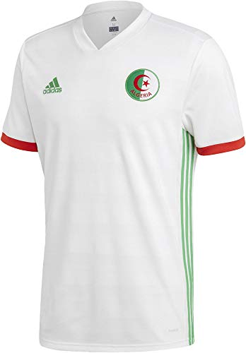 adidas Herren FAF H JSY Trikot, White/Semi Flash Lime/Red, M