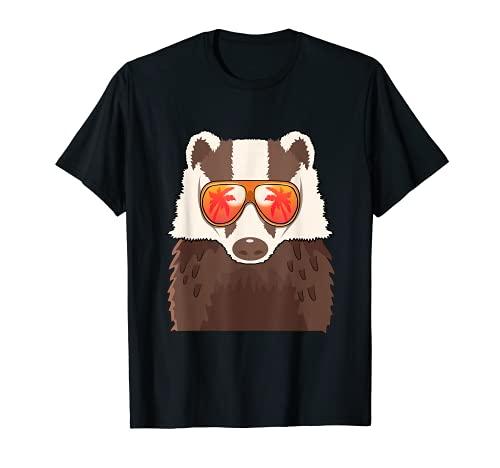 Blaireau lunettes de soleil été plage piscine party Blaireau T-Shirt