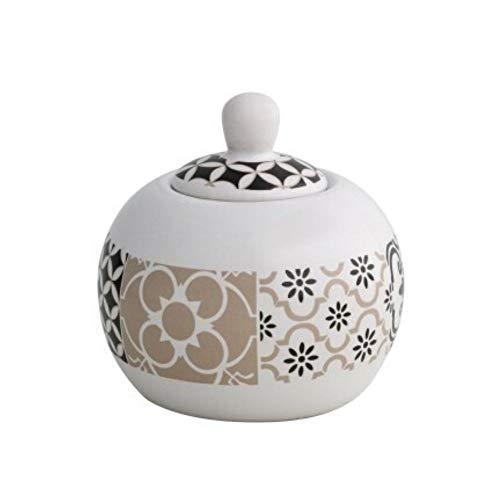 Brandani 53184 Alhambra Zuckerdose, Steingut, mehrfarbig