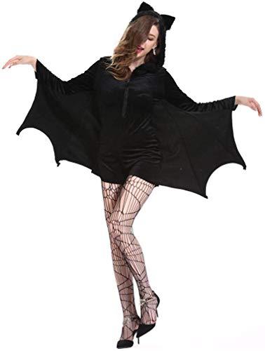 XYFW Disfraces De Halloween para Mujer, Murciélago, Ángel Caído, Demonio, Vampiro, Vestido De Bruja, para Adultos, Accesorios De Cosplay,XXXXL