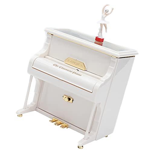 Vcriczk Carillon Rotante per Ragazze Che Ballano al Pianoforte, Carillon Meccanico per Pianoforte per Bambini per Amante per l'anniversario di Natale