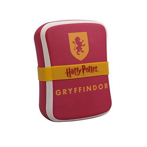 Harry Potter Brotdose Gryffindor rot/gelb/weiß, bedruckt, mit Silikonband, 100 % Bambusfaser.