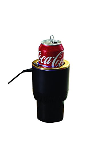 'Warm & Cool' 2-in-1 Smart Car Cup Warmer and Cooler (Black)