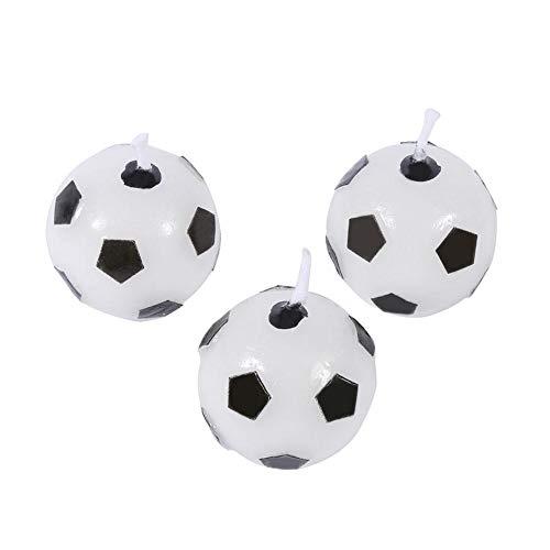 Rosvola Vela de la decoración en Forma de fútbol, Lindo fútbol niños cumpleaños Fiesta Pastel Decoraciones Suministros