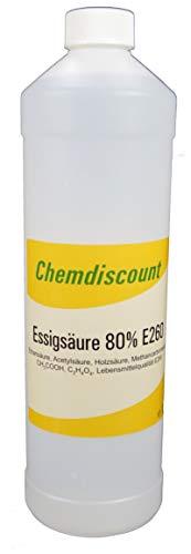 1Liter Essigsäure 80% in Lebensmittelqualität E260, versandkostenfrei