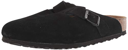 Birkenstock Clogs ''Boston'' from Leather in Black 39.0 EU N
