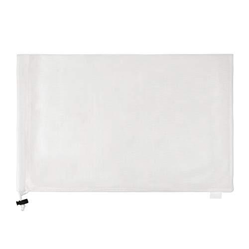 巾着のスポーツ バッグ ランドリー メッシュ バッグ 多機能 100% 洗濯機と乾燥機の安全なメッシュ バッグ エコフレンドリーな再利用可能なバッグ (ホワイト, 17.8cm X 25.4cm)