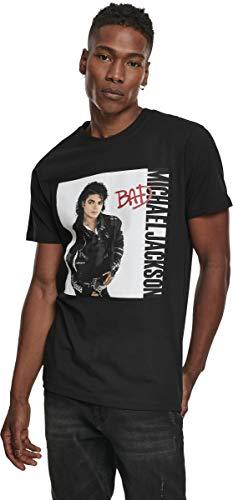 MERCHCODE Michael Jackson - Camiseta de Manga Corta para Hombre, diseño de álbum, Hombre, MC448, Negro, Extra-Small
