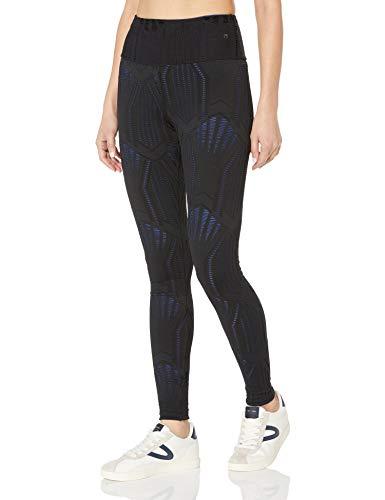 Maaji Women's Double Dream Reversible High Rise Long Length Legging, Onyx Black Crochet, Medium