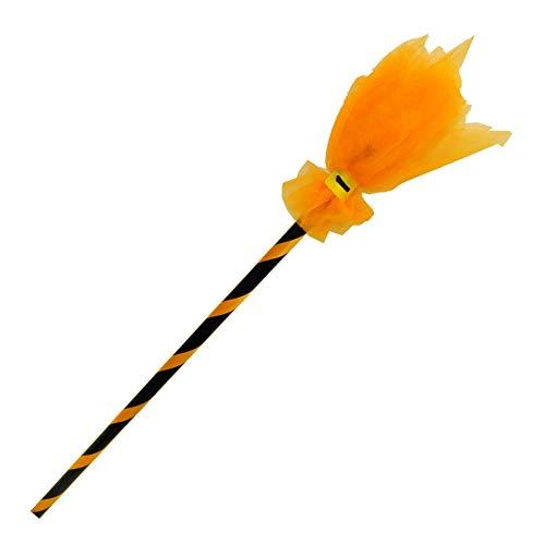 Fyasa bezem, PVC, zwart/oranje, 83 cm