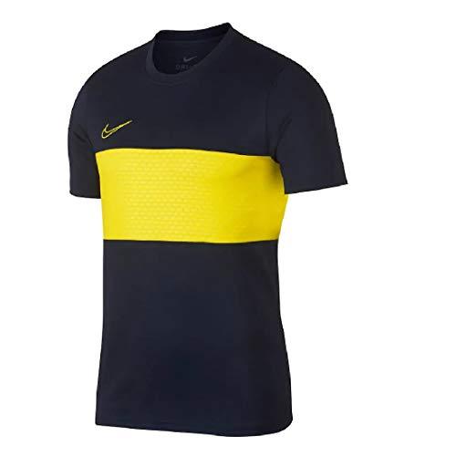 NIKE M Nk Dry Acdmy Top SS Gx Camiseta, Hombre, Obsidian/OPTI Yellow/OPTI Yellow, L