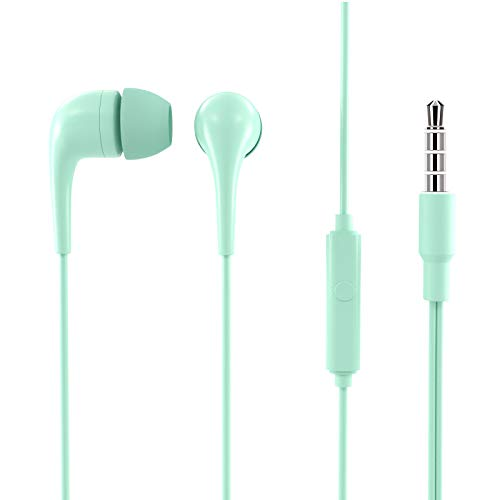 MINISO Colorful Music Earphone in-Ear Headphones with Microphone, Mint