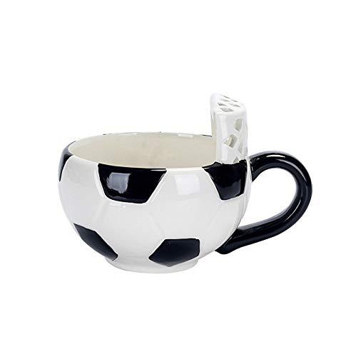 Doinbtoy Taza Creativa de Dibujos Animados Taza de café de Leche de cerámica Taza de Desayuno Taza de fútbol de 401-500 ml