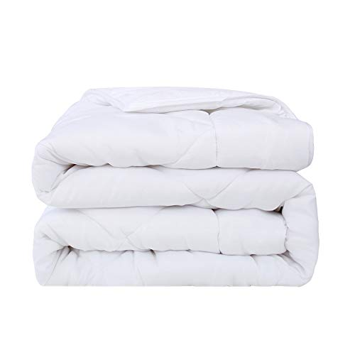 UMI. Essentials Down Alternative Comforter Quilt Premium 4.5 Tog Anti Allergy Duvet Summer Spring Autumn Season Polyester Energy Efficient White - Single (135cm x 200cm)