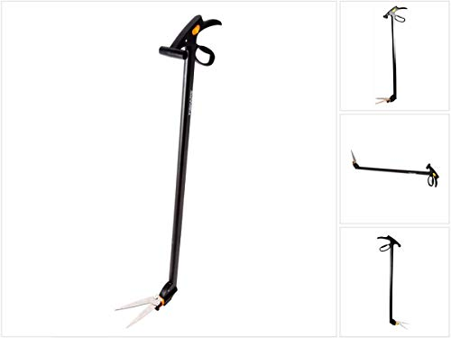 Fiskars Rasenkantenschere mit Stiel, Mit Servo-System, Länge: 100 cm, Stahl-Klingen/Kunststoff-Griff & Stiel, GS46, 1000590