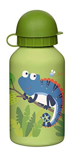 SIGIKID Mädchen und Jungen, Edelstahl-Trinkflasche Chamäleon 350ml für Kindergarten & Ausflüge, BPA-frei, empfohlen ab 36 Monaten, grün, 25091
