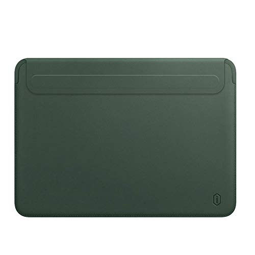 OWIME Portable Newest Laptop Sleeve Case For Macbook Pro 13 A2338 M1 A2159 A2289 Pu Leather Laptop Carry Sleeve For Macbook Pro 16 Case A2141 (Color : Green, Size : New Mac Air 13 A1932)