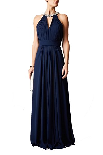 Mascara Navy mc181212bm Perlen necken Kleid