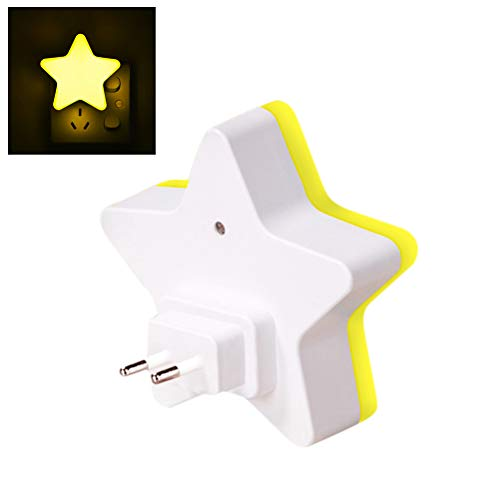 LED Sensor Control Night Light Mini Star LED Night Light met EU-stekker voor donkere nacht baby slapen licht nacht lampen nacht