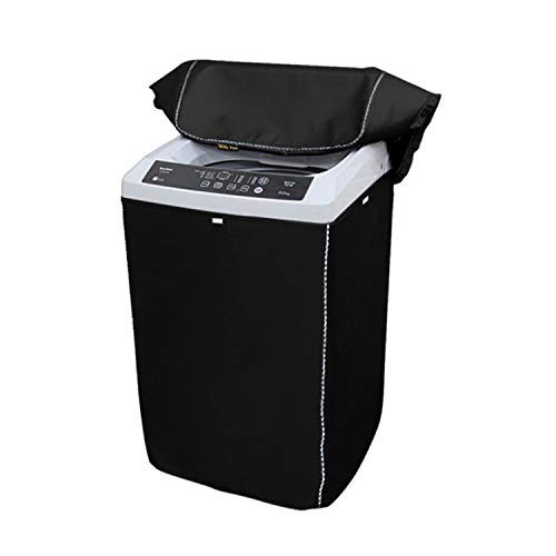 """Portable Washing Machine Cover,Top Load Washer Dryer Cover,Waterproof Full-Automatic/Wheel Washing Machine Cover(22""""22""""35""""inches, Black)"""