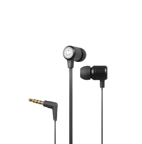 Millenium MH1 Pro In Ear Kopfhörer mit Mikrofon - ideal als Gaming Headset & kompatibel mit PC, Handy, Konsolen (z.B. PS4, PS5, Xbox One etc.), inkl. Remote Control & 3 Verschiedene Aufsätze