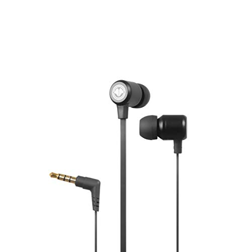 Millennium MH1 Pro, In Ear Kopfhörer mit Mikrofon-ideal als Gaming Headset & kompatibel mit PC, Handy, Konsolen (z.B. PS4, PS5, Xbox One etc.), inkl. Remote Control & 3 Verschiedene Aufsätze, schwarz