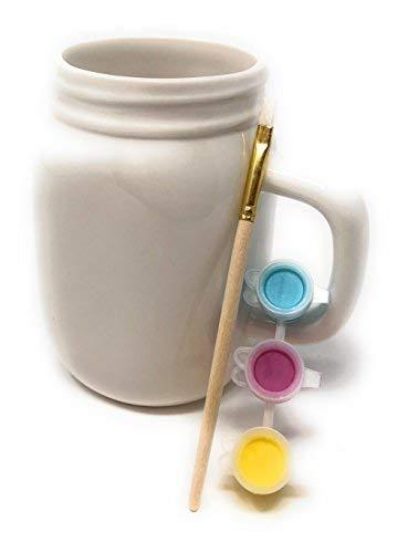 ArtMinds Mason Jar Mug Ceramic Painting Kit-5 piece complete set