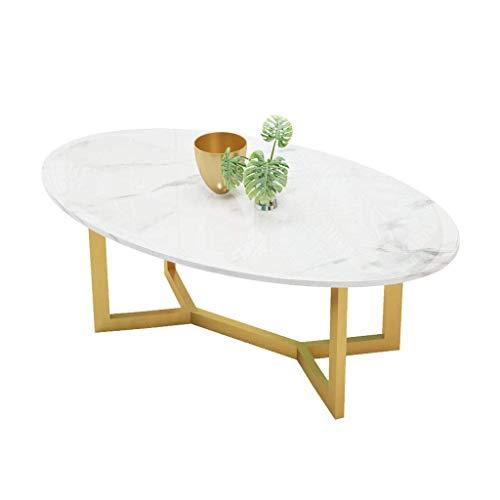 Moderner Hochglanz-Marmor-Couchtisch Weiß Oval Dinner Office Home Ovaler Couchtisch Glänzend Weiß Wohnzimmermöbel Für Wohnzimmer, Couchtisch