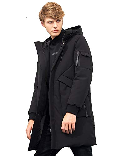 DPKDBN Heren Down Jacket, waterdichte dikke winter mannen donsjack kleding met capuchon warme eend donsjas mannelijke puffer jas