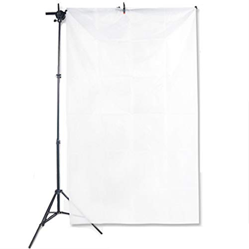 LDGHO 1.5X6M Nylon Silk White Seamless Diffusion Fabric for Photography Softbox,Light Tent and Lighting Light Modifier White, 1.5x6M