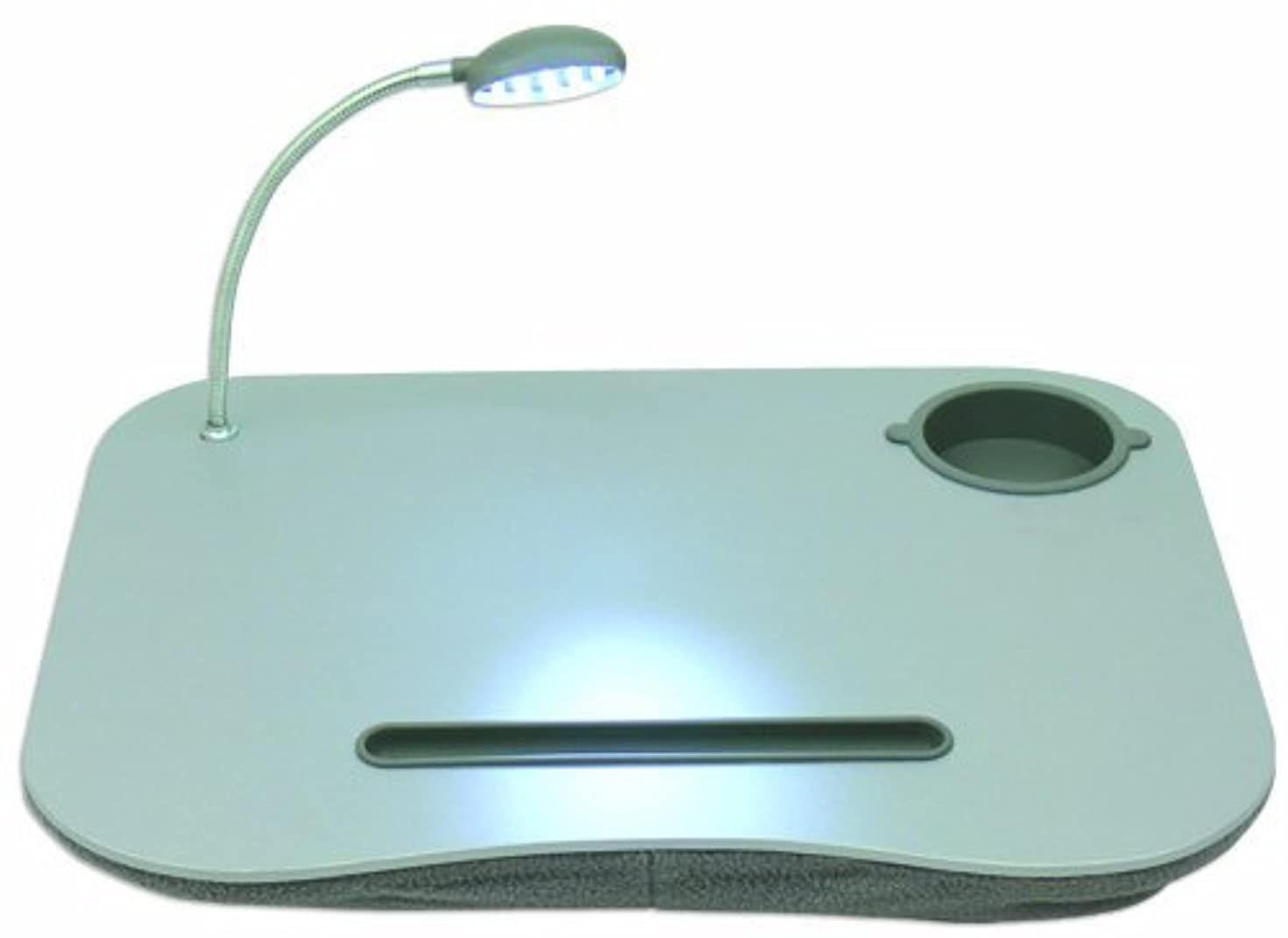 QVS LD-LED Notebook Stand with LED Light, Gray