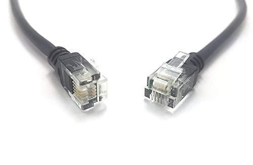 MainCore - Cavo ADSL2+ per modem a banda larga ad alta velocità, 26 AWG, da RJ11 a RJ11, colore nero (Disponibile in 0,5 m, 1 m, 1,5 m, 2 m, 3 m, 4 m, 5 m, 10 m, 15 m, 20 m) 4 m Nero