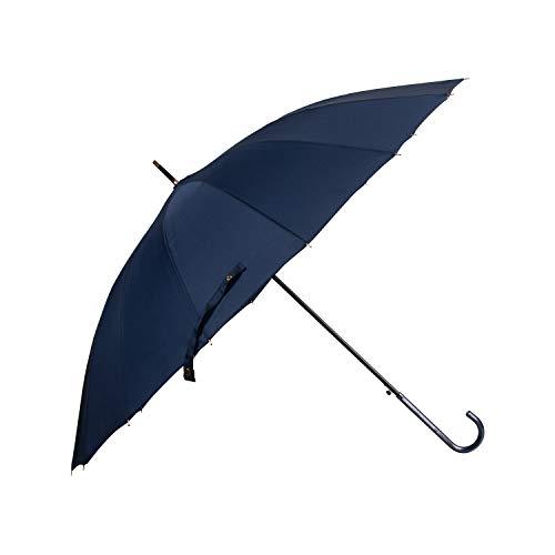 Lanker - Paraguas deportivo KS06P de fibra 210T, resistente al agua y al viento, 16 varillas azul azul