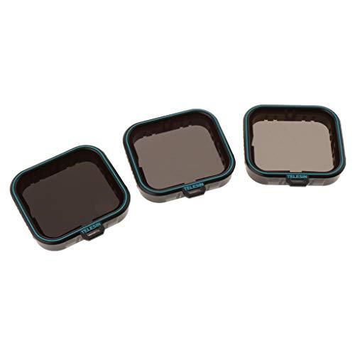 3 Pack Nd Objektiv Filter Set (ND4 ND8 ND16) Neutral Graufilter für GoPro Hero7 Hero 5 Hero 6