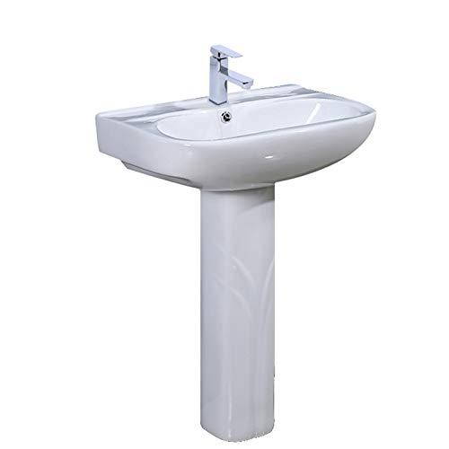 YRRA Casa Apartamento Pequeño Fregadero Pedestal, Simplicidad Moderna Una Pieza Pedestal Recipiente...