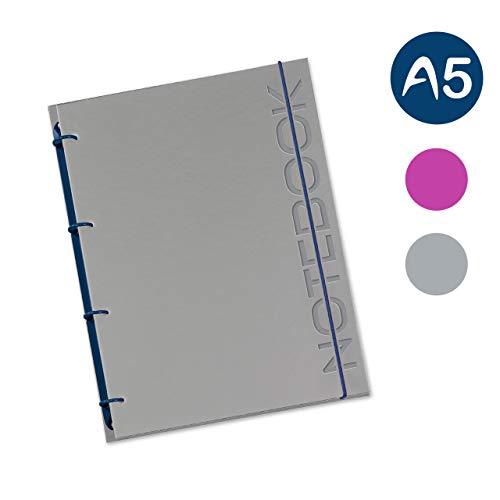 flexiNotes NOTIZBUCH A5, Typ: Notebook, Stahlblau, 75 Blatt kariert - Ring S