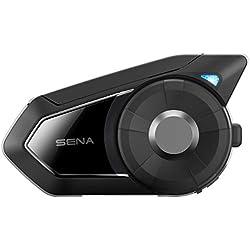 30K Sena Powerpro-01 Powerpro Support pour Guidon avec Batterie Portable int/égr/é Noir Sena 30K-01 Motorcycle Intercom avec Mesh et Bluetooth