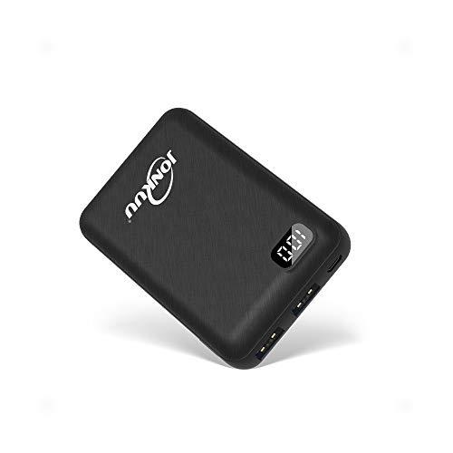 Cargador de Teléfono Portátil Pequeño 10000mAh de Carga Rápida 2.4A Batería Externa Paquetes de Dos Puertos con Pantalla LCD Compatible con iPhone Huawei iPad Samsung Nintendo Switch y tabletas