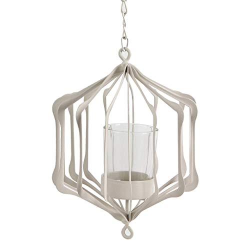 ZTMN kandelaar Iron Art hanglamp creatief diner Valentijnsdag diner kaarslicht decoratie (kleur: zwart, maat: B15 × 18 cm)