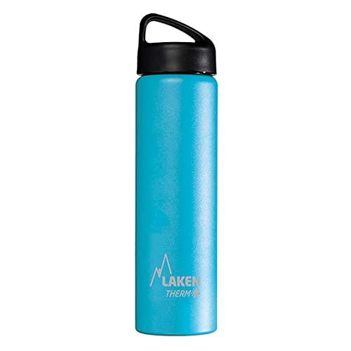 Laken Borraccia Termica Thermo Classic Bottiglia d'Acqua Isolamento sottovuoto Acciaio Inossidabile Bocca Larga - 750ml, Blu Chiaro