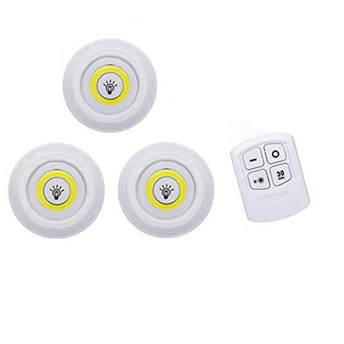 3W Leidde Onder Kabinet Licht Leidde Draadloze Slaapkamer Verlichting Met Afstandsbediening Dimbare Garderobe Nachtlampje Voor Slaapzaal Kast