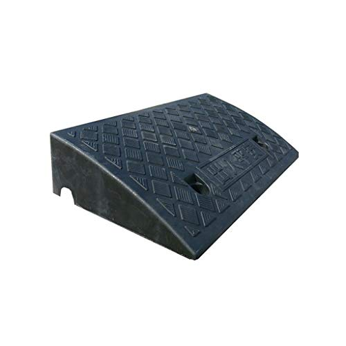 C-J-Xin Service Rampen, Rampen Innen tragbare Kunststoff Schwelle Rampen Schritt Uphill Mat Rollstuhl-Größe: 50 * 27 * 13.5CM auffahrrampen (Color : Black, Size : 50 * 27 * 13.5CM)