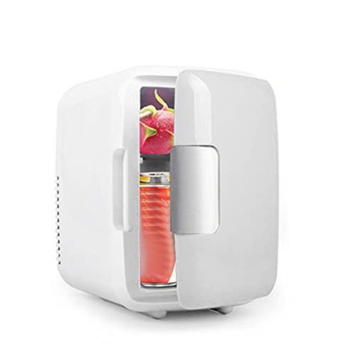 WUBAILI Mini nevera portátil, 4 litros/6 latas enfriador y calentador, para nevera pequeña para cuidado de la piel, dormitorio, dormitorio, coche, caravana, blanco, 220 V coche y hogar