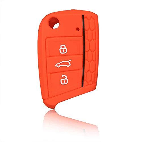 MPOQZI Silikon Auto Schlüsselhülle Koffer Set, Passend für VW Polo Golf 7 MK7 Für Skoda Octavia Combi A7 Für Sitz Leon Ibiza CUPTRA Für Volkswagen Schlüssel
