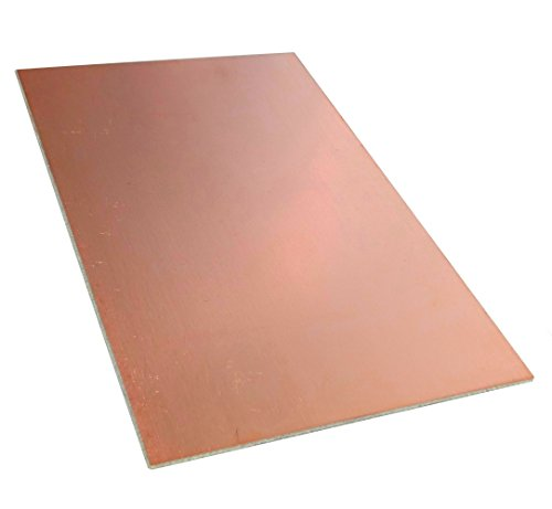 AERZETIX Platte aus Kupfer für Leiterkreis 160/100 / 2,0 mm 18 μm Epoxidharz Glasfaser C40591